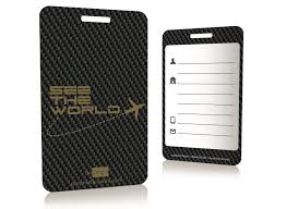 carbon fiber luggage tags metal cards