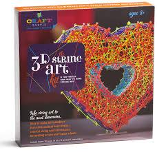 amazon com craft tastic 3d string art kit toys u0026 games