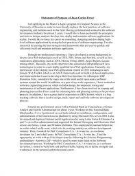 sample of statement purpose for graduate program cover letter