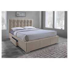 Tufted Bed With Storage Sarter Contemporary Grid Tufted Storage Bed Baxton Studio Target
