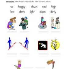 opposites kindergarten worksheets u0026 worksheet 604780 opposite