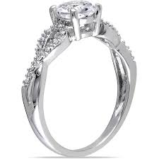 Lord Of The Rings Wedding Band by Miabella 1 10 Carat T W Diamond And 1 Carat T G W Created White