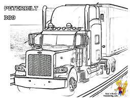 peterbilt truck coloring pages painting peterbilt