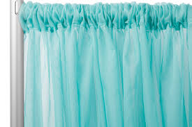 Turquoise Sheer Curtains Sheer Voile 10ft H X 118 W Drape Backdrop Light Turquoise Cv