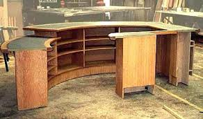 How To Make A Reception Desk Build A Reception Desk How To Make Curved Plans Interque Co