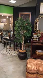 potted artificial tree in black terra cotta pot invio
