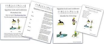 ancient egypt gods goddesses and myths free worksheet set