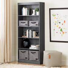 Sauder Beginnings Bookcase by Amazon Com South Shore Axess 5 Shelf Bookcase Gray Oak Kitchen
