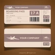 boarding pass template in brown tones vector free download