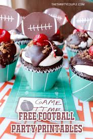 football cupcakes football tailgate party printables football cupcakes place cards