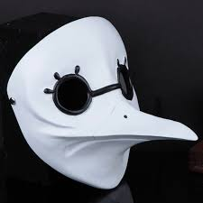 white plague doctor mask white plague doctor scary mask the doctor bird beak
