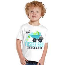 Easter Clothes For Baby Boy Big Easter Egg Hunter Dump Truck Kids Shirt Or Baby Bodysuit
