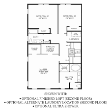 loudoun valley the old towne the mercer home design optional finished loft alternate laundry location ultra shower 2nd floor