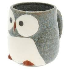 owl mug kotobuki japanese 3 7 8 h blue owl tea coffee cup mug 113 754