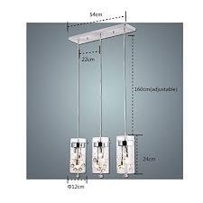 Kitchen 3 Light Pendant Claxy Ecopower Lighting Glass Pendant Lighting Modern