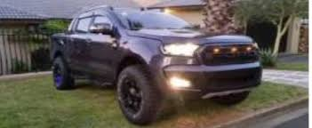 ranger ford lifted ford ranger 2016 face lift grill with top led