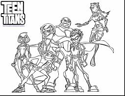 awesome teen titans coloring pages printable coloring