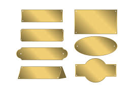 gold name plates free gold name plate vector free vector stock