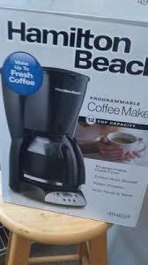 Walmart Coffee Bean Grinder Hamilton Beach 12 Cup Programmable Coffee Maker Model 49465r