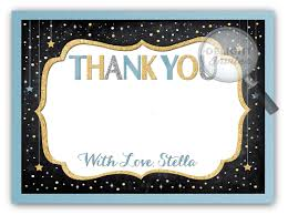 baby shower thank you cards twinkle twinkle boy baby shower thank you cards di