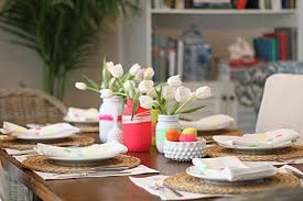 Easter Table Setting An Easter Table With A Neon Twist Making It Lovely