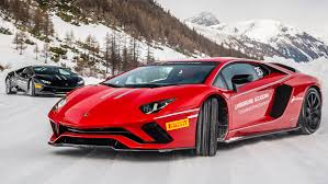 first lamborghini aventador ice driving the lamborghini aventador s