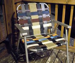 Aluminum Web Lawn Chairs Refurbished Folding Lawn Chair With Repurposed Materials 10 Steps