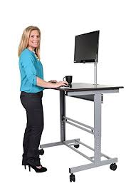 Stand Up Desk Office 40 Mobile Adjustable Height Stand Up Desk With