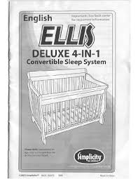 Simplicity Convertible Crib Crafted By Me Simplicity Crib Ellis