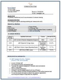 Formats For Resumes 100 Resume Format For Experienced Sample Template Example Of