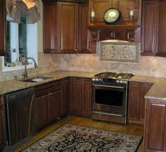 kitchen room glossy red kitchen cabinet to ceiling feat mosaic