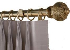 Travis Rods For Drapes Decorative Brass Finish Drapery Rods Traditional Traverse Rods