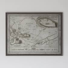 Map Of Athens Greece by Athens Map Vintage Map Of Athens Greece Circa 19th C