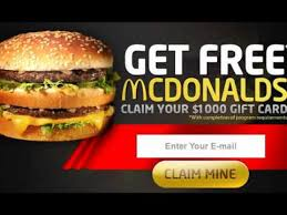 mcdonalds e gift card mcdonald no cost gift cards fast food