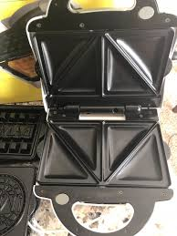 Used Emeril waffle sandwich and pizzelle maker for sale in Round