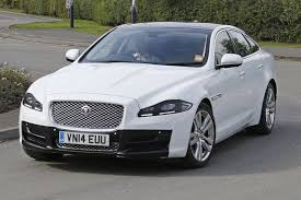 jaguar xj facelift seen in the open without camouflage auto express