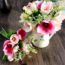 orchid flower arrangements 6 decorative flower silk magnolia artificial orchid flower