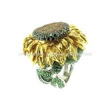 sunflower engagement ring sunflower ring sunflower engagement ring box