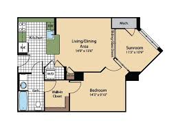 Cathedral Floor Plan 1 Bed 1 Bath Apartment In Washington Dc Meridian At Gallery Place