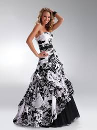 black and white quinceanera dresses black and white print strapless up balloon hem tulle