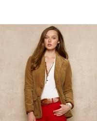 women u0027s tan corduroy blazer light blue dress shirt red skinny
