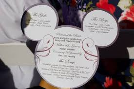 fan shaped wedding programs mickey mouse shaped programs for your disney wedding