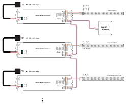 4 channels constant voltage dmx 100w dimmable led driver srp 2108