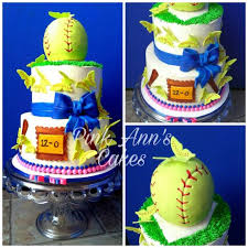 girly softball cake cake by pink ann u0027s cakes cakesdecor
