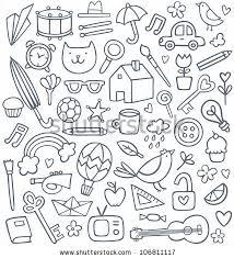 doodle vectors free vector set of 50 different doodles by ksusha dusmikeeva via