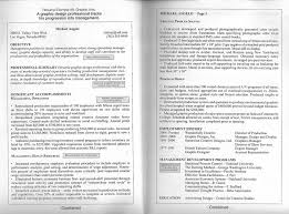 gallery of doc 840997 sample format of one page resume resume 2