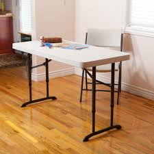 White Folding Table And Chairs Furniture 4 Feet Adjustable Menards Folding Table In Black And