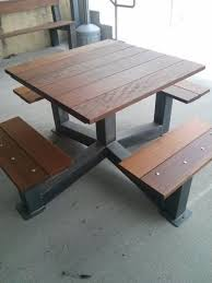 Industrial Style Bench 16 Beautiful Garden Picnic Bench Tables And Designs Planted Well