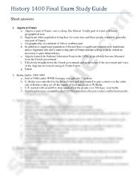 history 1400 final exam study guide docx history 1400 with
