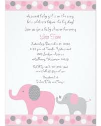 baby girl baby shower invitations deal on polka dot pink elephant baby shower invitations